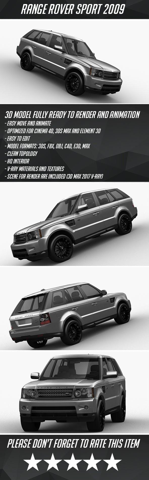 Range Rover Sport 2009 - 3DOcean Item for Sale