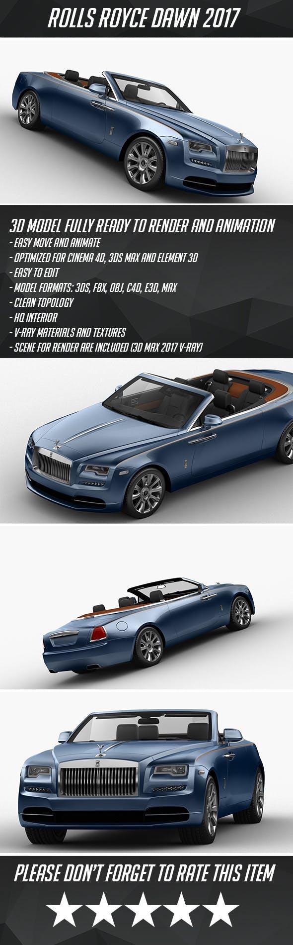Rolls-Royce Dawn 2017 - 3DOcean Item for Sale