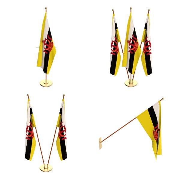 Brunei Flag Pack - 3DOcean Item for Sale
