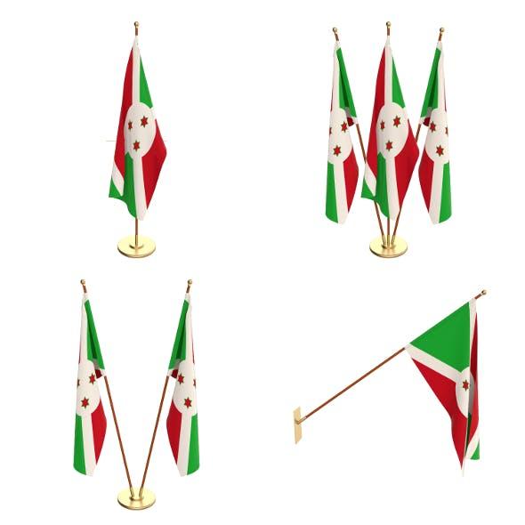 Burundi Flag Pack - 3DOcean Item for Sale