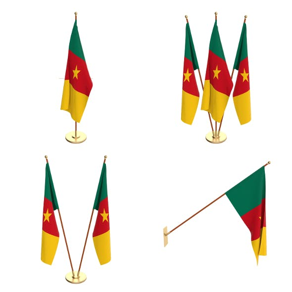 Cameroon Flag Pack - 3DOcean Item for Sale