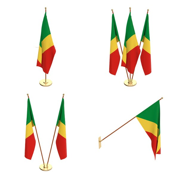Congo Flag Pack - 3DOcean Item for Sale