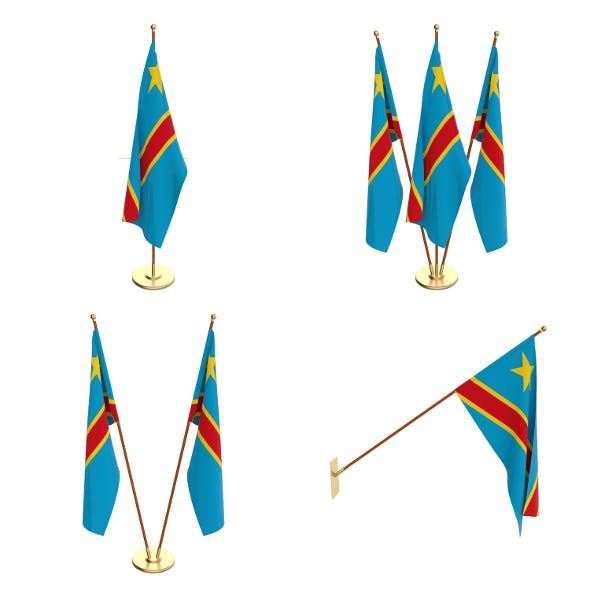 Democratic Republic of Congo Flag Pack - 3DOcean Item for Sale