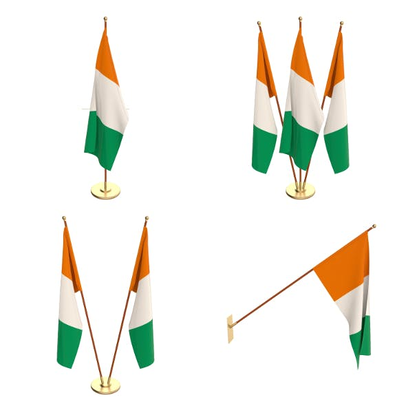 Ivory Coast Flag Pack - 3DOcean Item for Sale