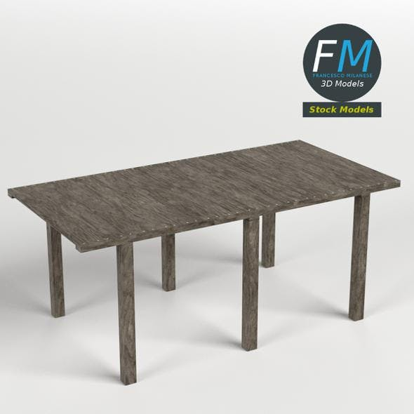 Wooden pier module - 3DOcean Item for Sale