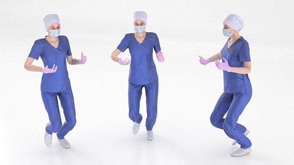 Rigged scan medical nurse 03 - 3DOcean Item for Sale