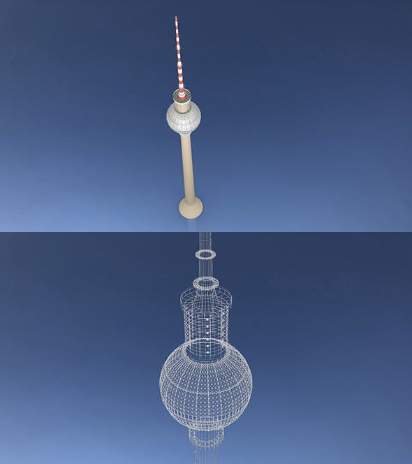 Berlin TV Tower Fernsehturm - 3DOcean Item for Sale