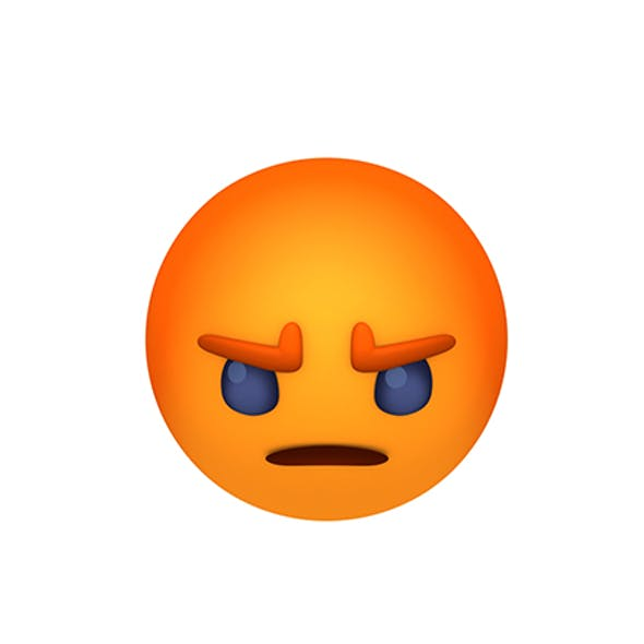 Animated Facebook Angry Reaction Button