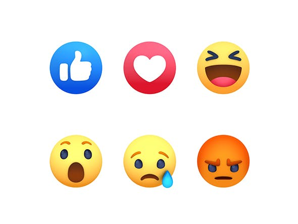 Animated Facebook Reaction Button Pack - 3DOcean Item for Sale