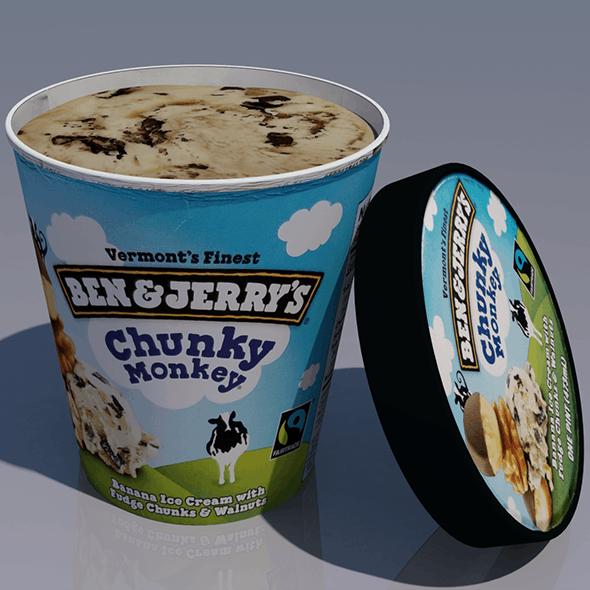 Ice Cream Carton - 3DOcean Item for Sale