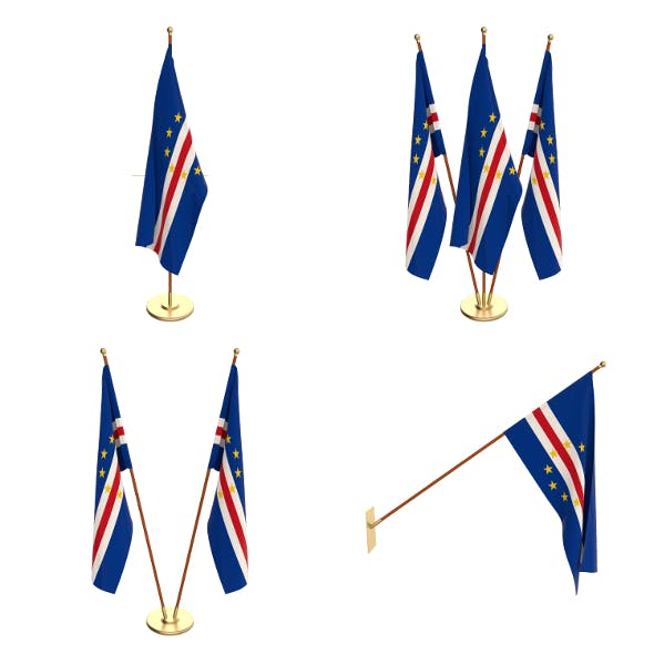 Cape Verde Flag Pack - 3DOcean Item for Sale