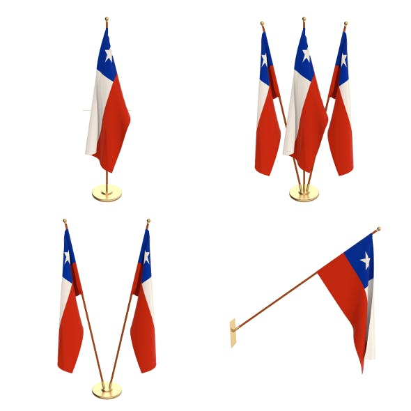 Chile Flag Pack - 3DOcean Item for Sale