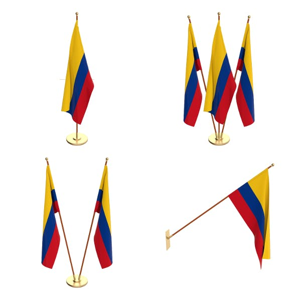 Colombia Flag Pack - 3DOcean Item for Sale