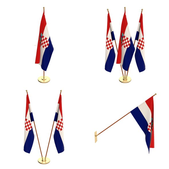 Croatia Flag Pack - 3DOcean Item for Sale