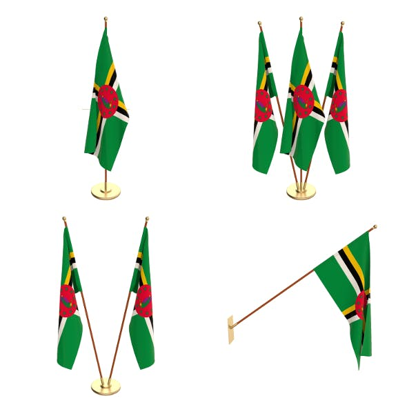 Dominica Flag Pack - 3DOcean Item for Sale