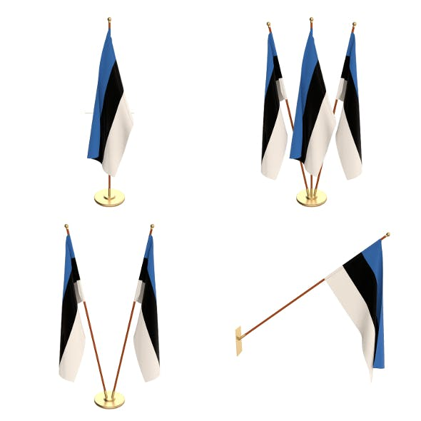 Estonia Flag Pack - 3DOcean Item for Sale