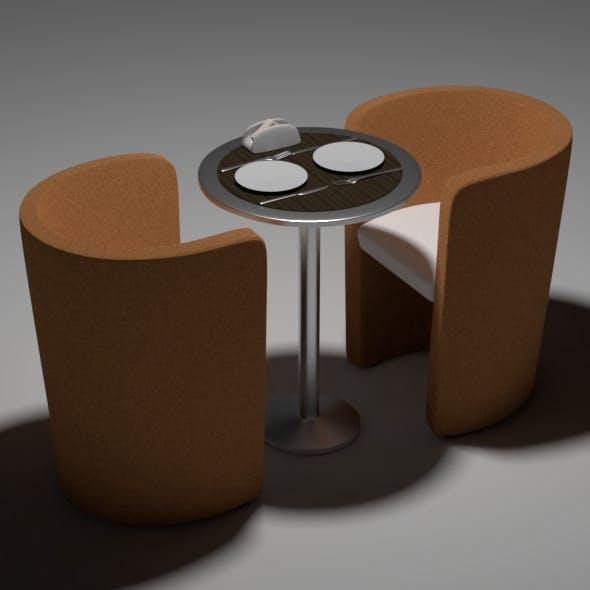 Cafe scene - 3DOcean Item for Sale