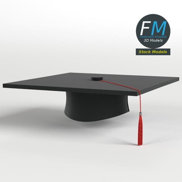 Square academic cap - 3DOcean Item for Sale
