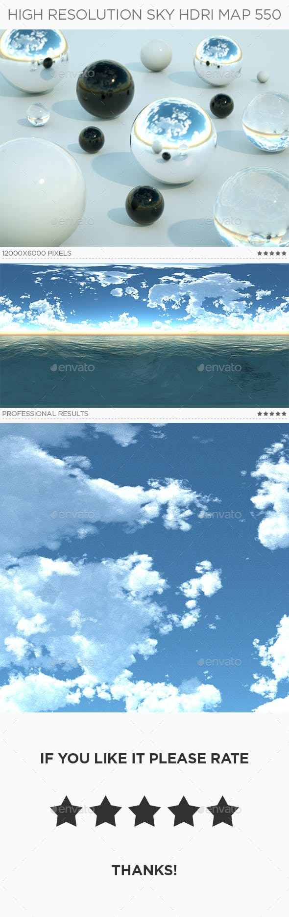 High Resolution Sky HDRi Map 550 - 3DOcean Item for Sale