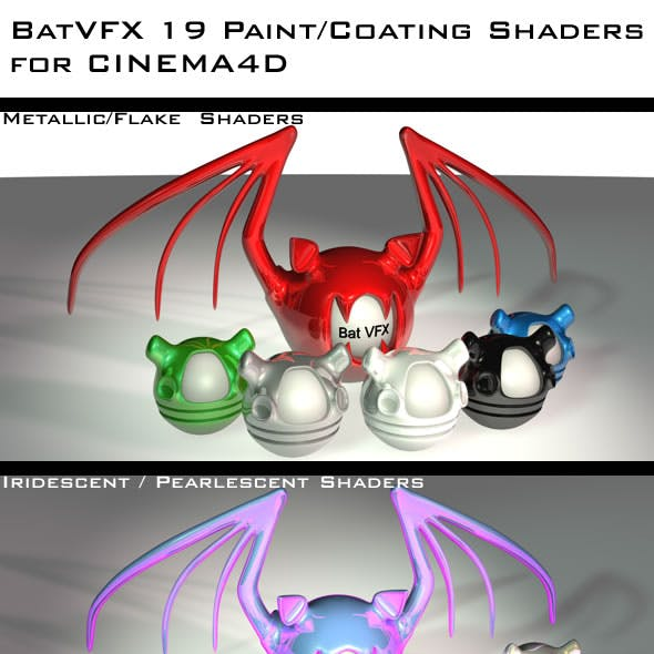 19 Paint / Coating Shaders Pack For CINEMA4D (C4D)