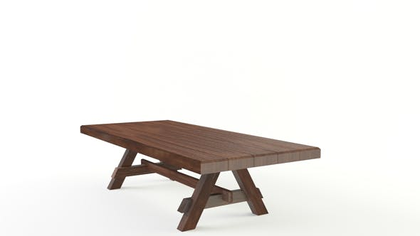 Lowpoly wooden table - 3DOcean Item for Sale