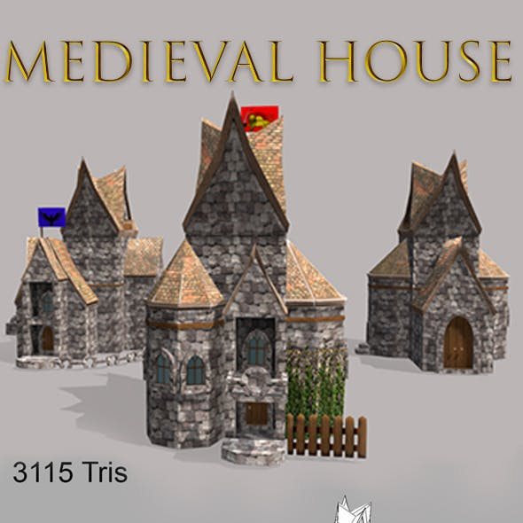 Low Poly medieval houses