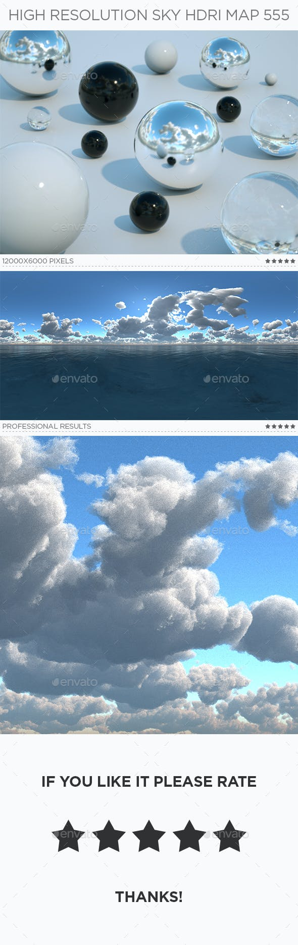 High Resolution Sky HDRi Map 555 - 3DOcean Item for Sale