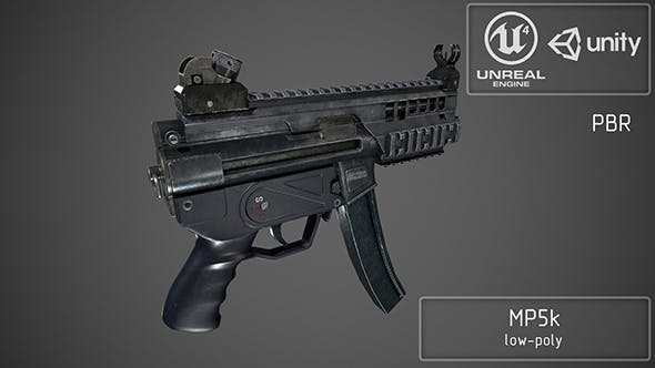 MP5k Tactical - 3DOcean Item for Sale