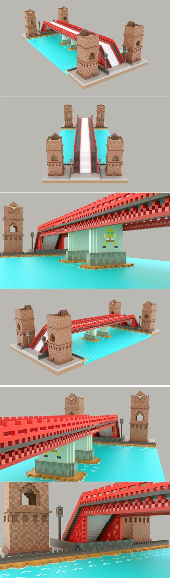 Pixel Bridge - 3DOcean Item for Sale