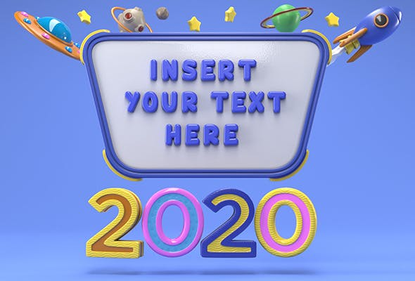 Cartoon Message Board - 3DOcean Item for Sale