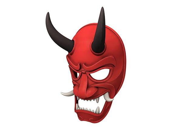 Japanese Demon Mask - 3DOcean Item for Sale