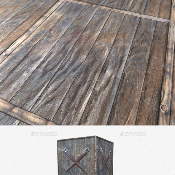 3 Wooden Crate Seamless Textures