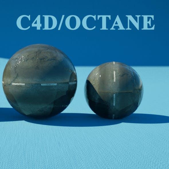 Wet asphalt material for octane in c4d