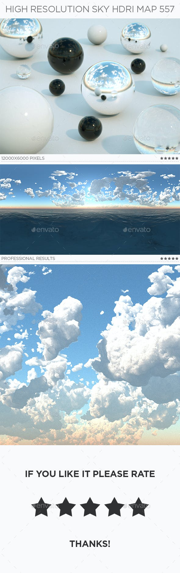 High Resolution Sky HDRi Map 557 - 3DOcean Item for Sale