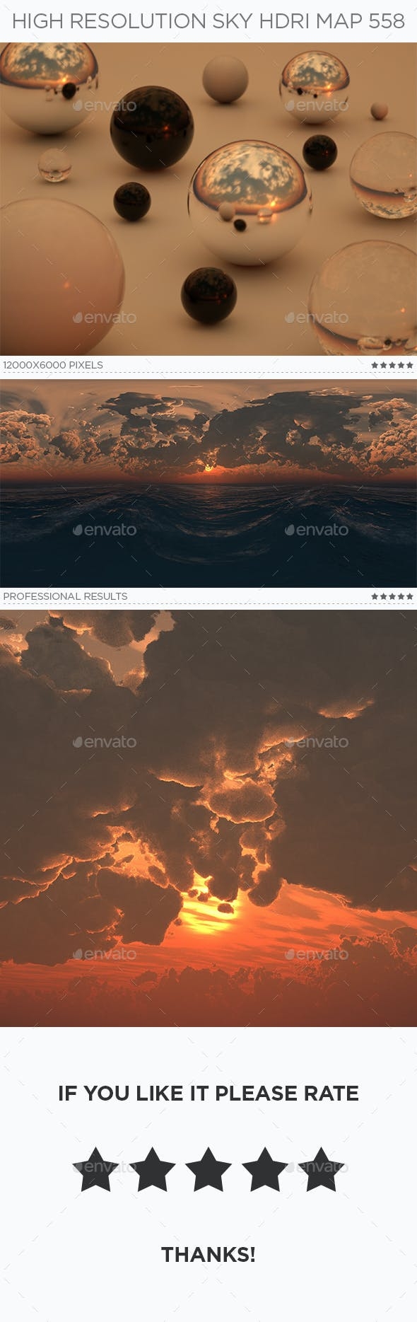 High Resolution Sky HDRi Map 558 - 3DOcean Item for Sale