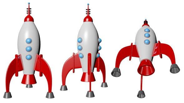 Rocket 3D Cartoon - 3DOcean Item for Sale