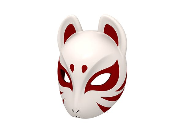 Japanese Fox Mask - 3DOcean Item for Sale