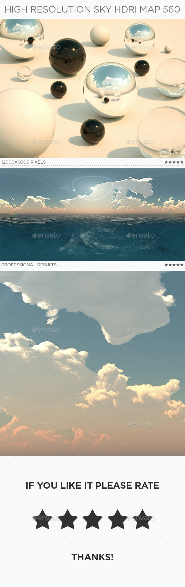 High Resolution Sky HDRi Map 560 - 3DOcean Item for Sale