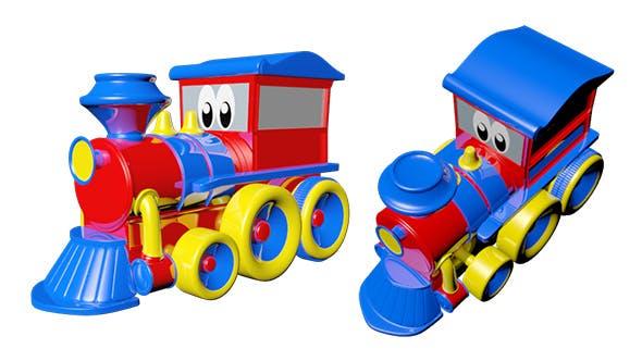 Train Toy Cartoon - 3DOcean Item for Sale