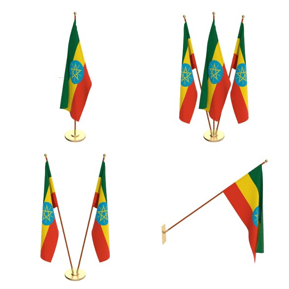 Ethiopia Flag Pack - 3DOcean Item for Sale