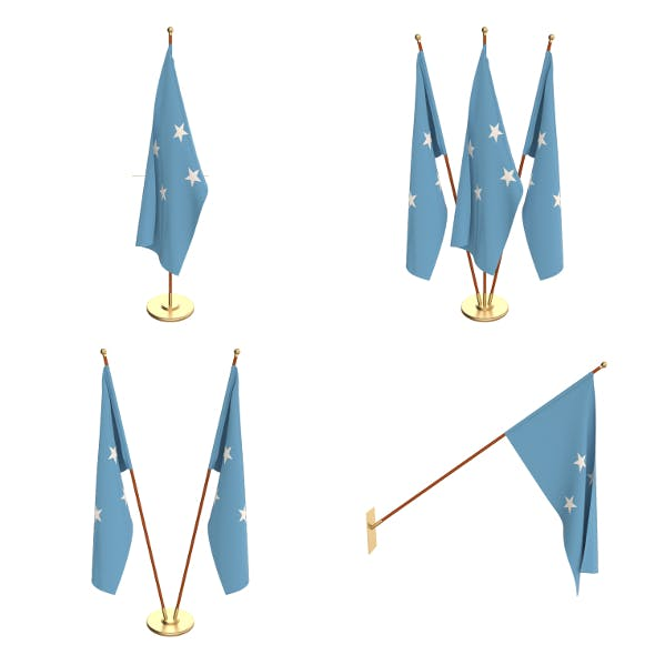 Federated States of Micronesia Flag Pack - 3DOcean Item for Sale