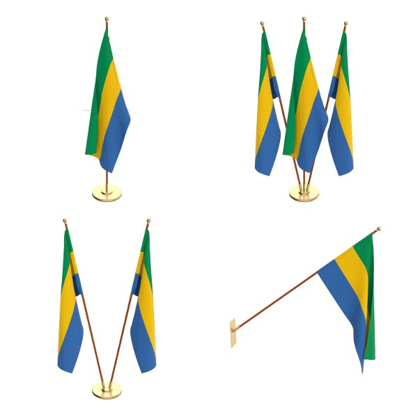 Gabon Flag Pack - 3DOcean Item for Sale