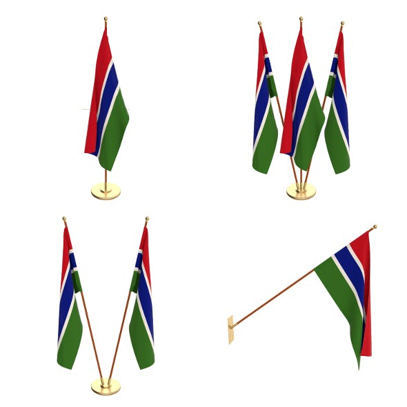 Gambia Flag Pack - 3DOcean Item for Sale