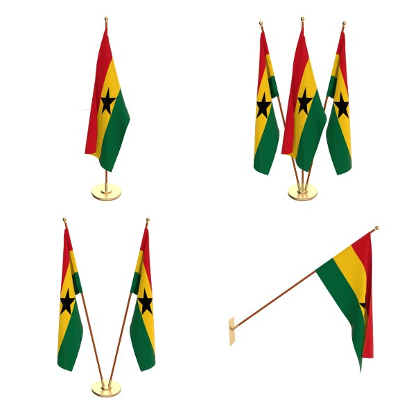 Ghana Flag Pack - 3DOcean Item for Sale
