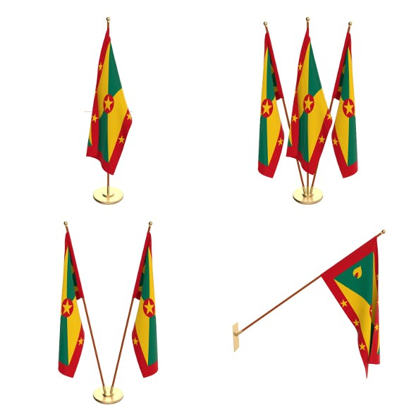 Grenada Flag Pack - 3DOcean Item for Sale