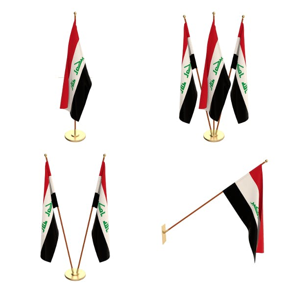 Iraq Flag Pack - 3DOcean Item for Sale