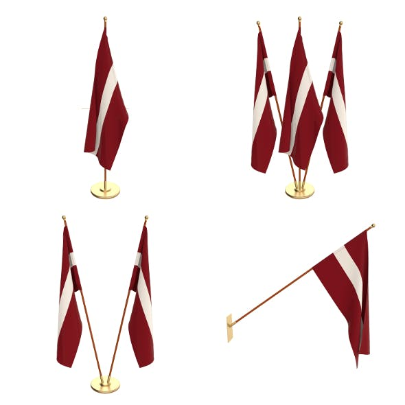 Latvia Flag Pack - 3DOcean Item for Sale