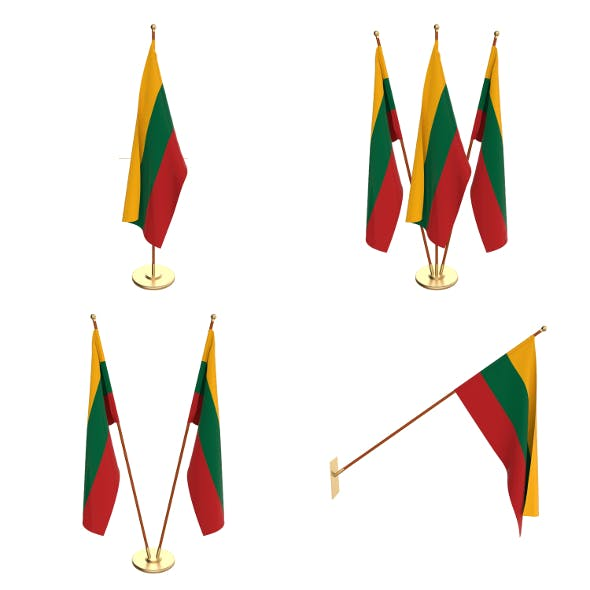 Lithuania Flag Pack - 3DOcean Item for Sale