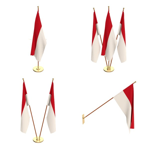 Monaco Flag Pack - 3DOcean Item for Sale