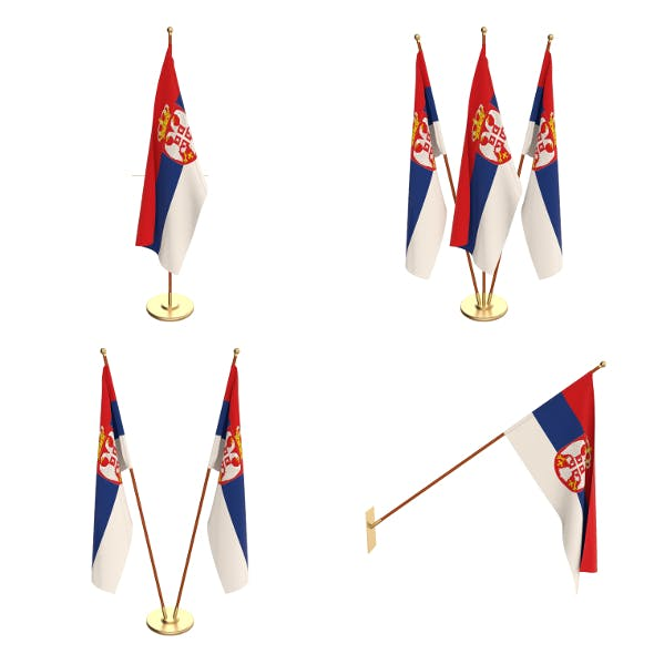 Serbia Flag Pack - 3DOcean Item for Sale
